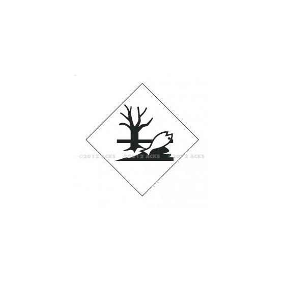 Symbole de danger ADHESIF 300X300 .   EN :  ENVIRONNEMENT