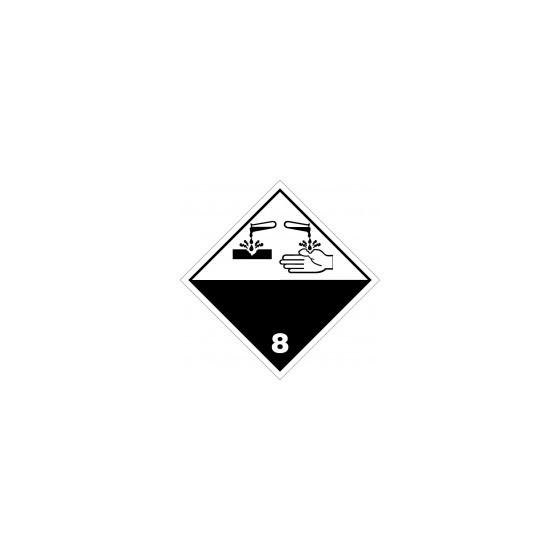 Symbole de danger 300x300 alu N°8