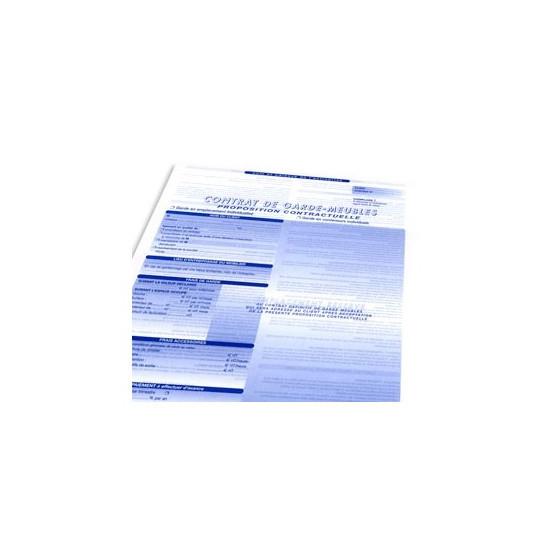 Liasse contrat garde meuble 4 feuillets