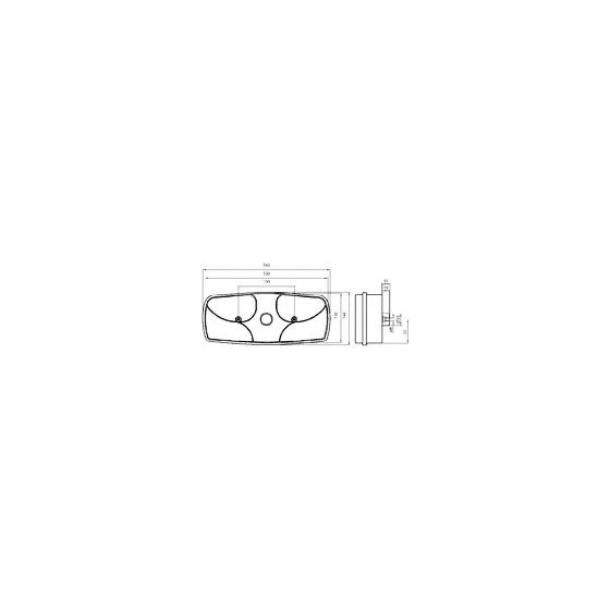 FEU ARR DROIT ECOPOINT  connexion équipée de lames ASPOCK 25-2400-501